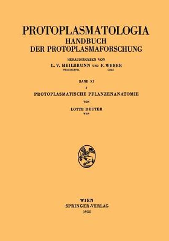 bol.com | Protoplasmatische Pflanzenanatomie | 9783211803899 | Lotte ...