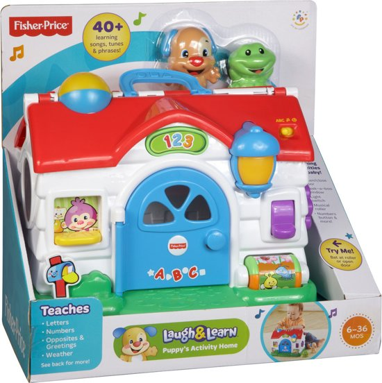 Bol Fisher Price Laugh Learn Puppy Speelhuis Mattel Speelgoed