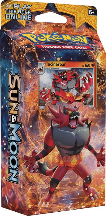 Afbeelding van het spel Pokémon: Sun & Moon Theme Deck Roaring Heat