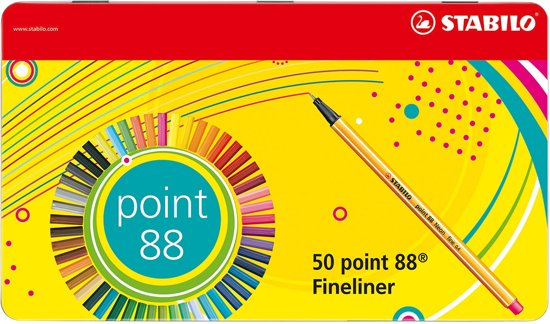 STABILO point 88 Fineliner Metalen Etui - 50 stuks