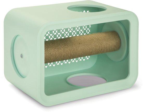 Beeztees Cat Cube Scratch Krabpaal - 49 x 29 x 32,6 cm - Mintgroen