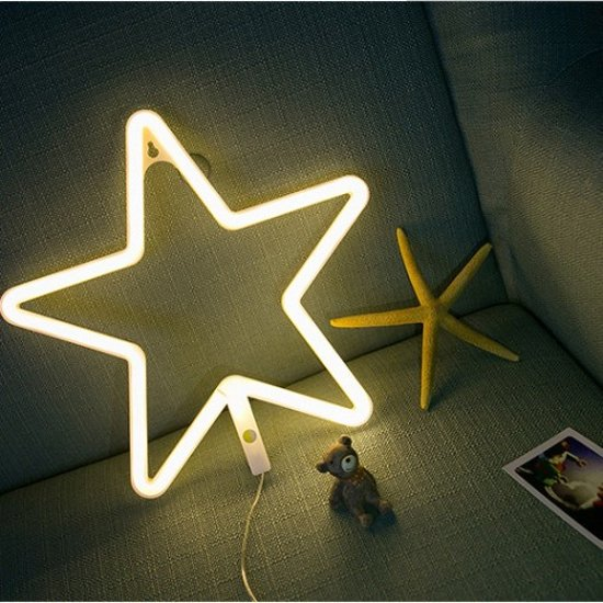 bol.com | Ster lamp led verlichting neon look