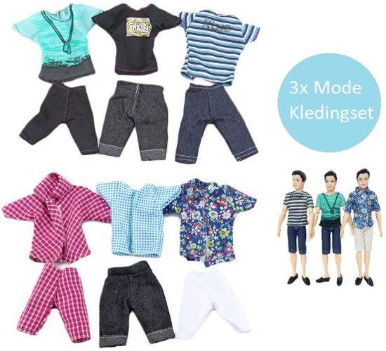 Voor de Pop | De Stoere Kleding Set | Jongens barbie | Barbiepop | Ken | Poppenkleertjes | Poppenkleding