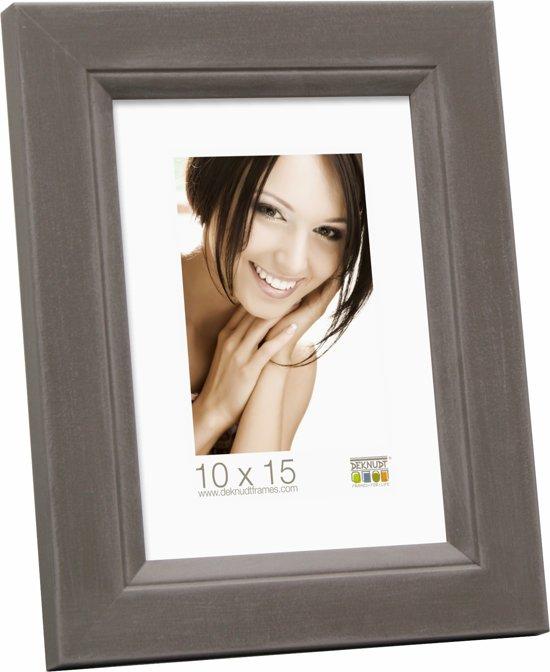 Bolcom Deknudt Frames Fotokader Hout Grijs Fotomaat 20x28 Cm