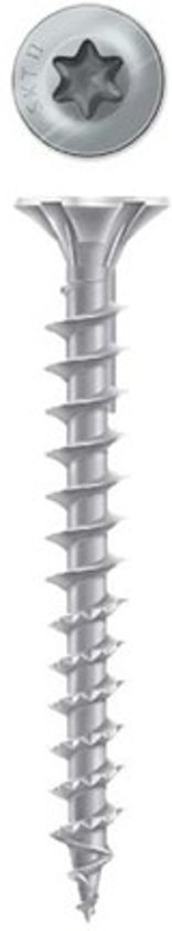 Dynaplus AR beslagschroef - platkop silver - 4.0x40mm - Torx20 - 200 stuks