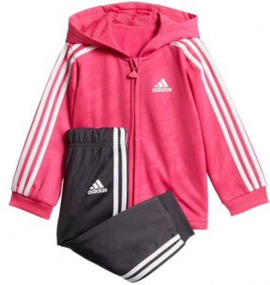 7d8748ebf8a adidas - Shiny Full Zip Hooded Jogger - Kinderen - maat 62