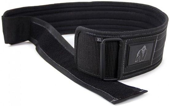 """Gorilla Wear 4"""" Nylon Belt - Gewichthefriem - S/M - Zwart"""
