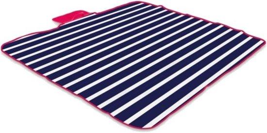 Yello Picknickkleed Fleece Blauw/wit 120 X 135 Cm