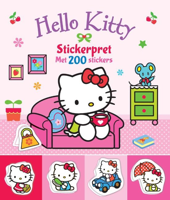 Boek cover Hello Kitty - Stickerpret met 200 stickers van  (Paperback)