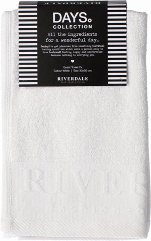 Riverdale Days - Gastendoek - 2 stuks - Wit