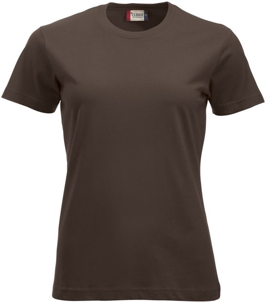 Clique New Classic T Ladies Donker Mocca maat XL