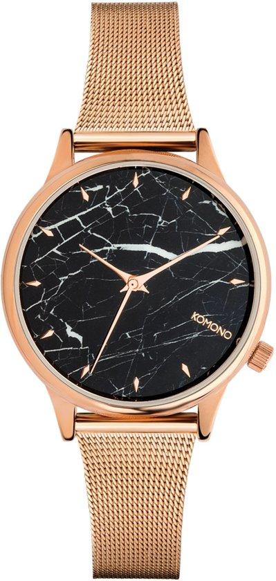 Komono Estelle Black Marble Horloge