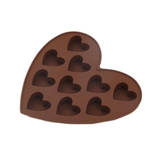 Siliconen Hart Chocoladevorm - Hartvorm - Mini Muffin / Cupcake Vormpjes - Bonbonvorm Valentinaa