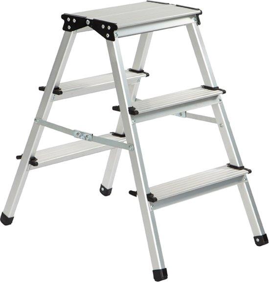 Genoeg bol.com | ESCALO Huishoudtrap - Trapladder - Aluminium - 2 x 3 Treden HG67