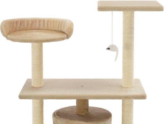 vidaXL Kattenkrabpaal met sisal krabpalen 95 cm beige