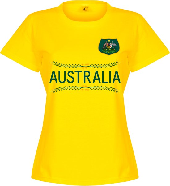 Australia Dames Team T-Shirt - Geel - S