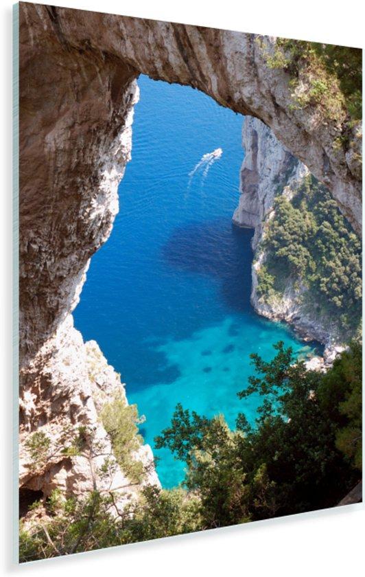 Foto door natuurlijke boog op zee Plexiglas 80x120 cm - Foto print op Glas (Plexiglas wanddecoratie)