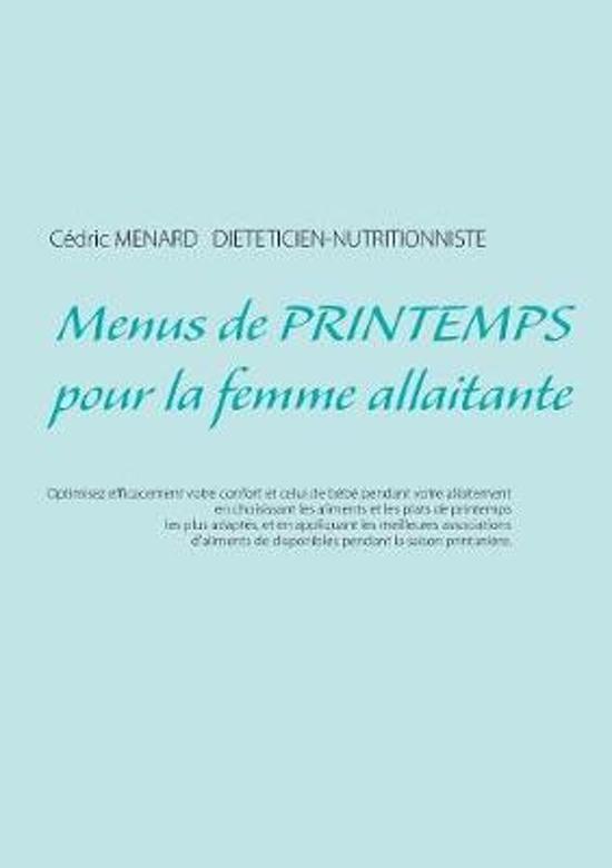 Menus de Printemps Pour La Femme Allaitante