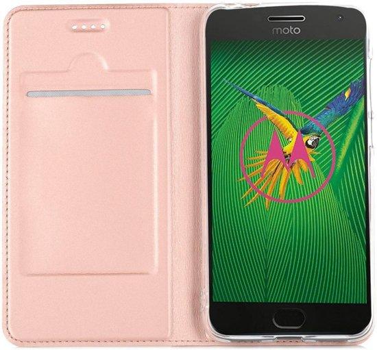 Poudre Livre Rose Tpu Case De Luxe Pour Motorola Moto, Plus G5