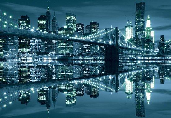 Fotobehang New York  Skyline Brooklyn Bridge | XXXL - 416cm x 254cm | 130g/m2 Vlies