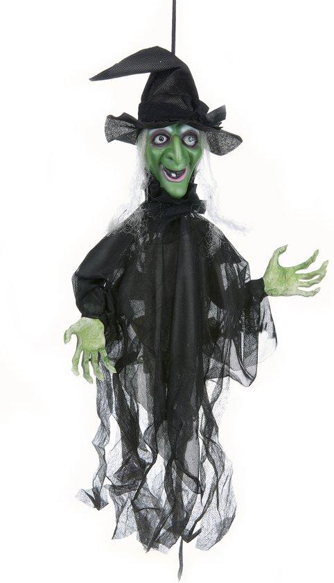 Halloween Decoratie Bestellen.Halloween Decoratie Bewegende Heks Met Licht En Geluid Feestdecoratievoorwerp
