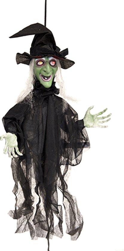 Bewegende Halloween Afbeeldingen.Halloween Decoratie Bewegende Heks Met Licht En Geluid Feestdecoratievoorwerp