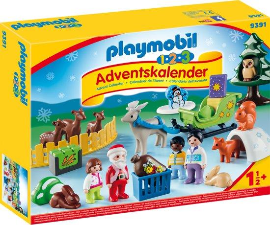 Afbeelding van PLAYMOBIL 123 Adventskalender Kerstmis in het dierenbos - 9391 speelgoed