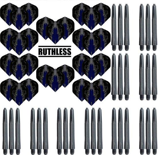 Dragon darts – 10 Sets High Impact Flights – darts flights – Blauw – plus 10 sets Dragon – darts shafts – medium