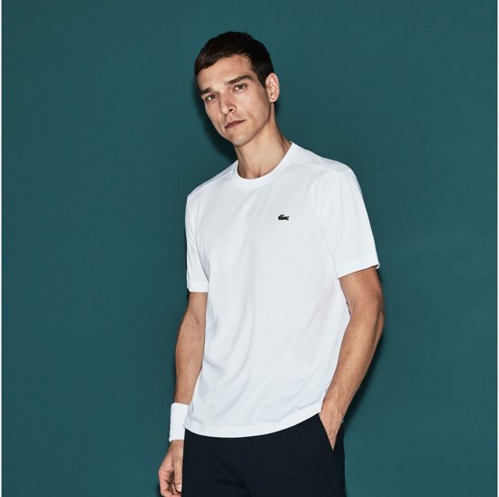 Wit 001 Th7618 M Maat Mannen Lacoste Sporttop gfqAY5w