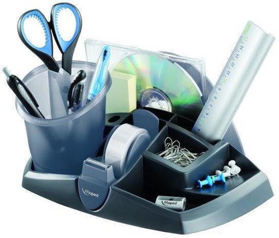 Essentials accessoire houder & pennenkoker - grijs