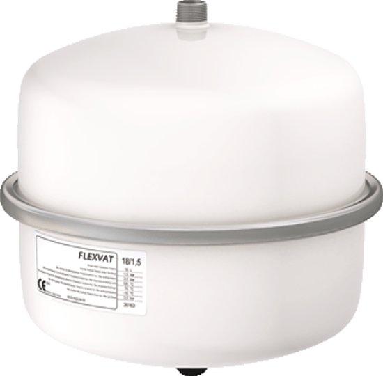 Flamco Flexvat expansievat 18 liter 1.0 bar voordruk