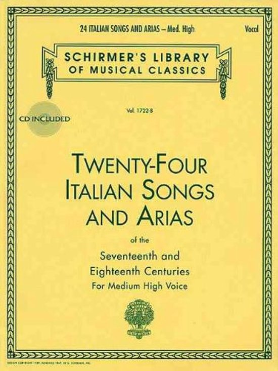 Twenty-Four Italian Songs & Arias Of The 17/18th Centuries - Medium-High Voice (Book/Online Audio)