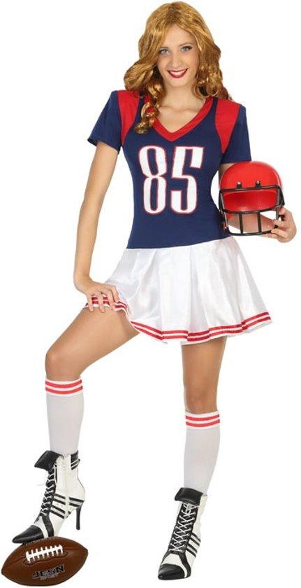 Bol Com Amerikaanse Voetbal Speler Kostuum Voor Vrouwen