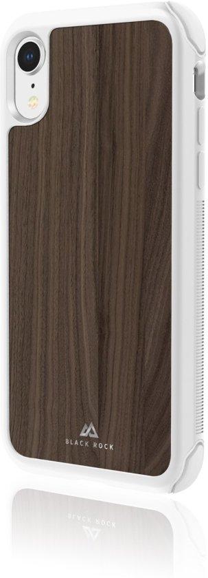 "Black Rock Cover ""Robust Real Wood"" voor Apple iPhone Xr, Walnoot"