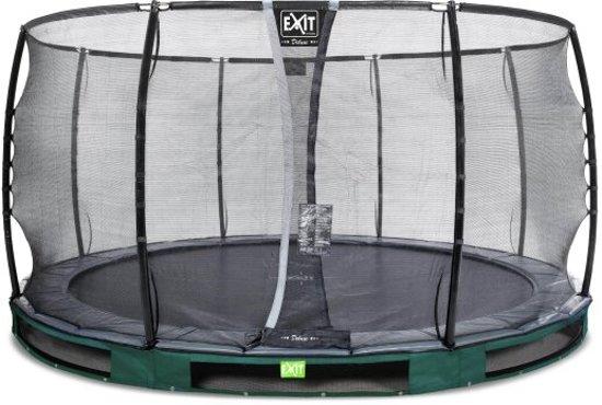 """EXIT Elegant Inground Trampoline à 427 cm met Deluxe Veiligheidsnet """