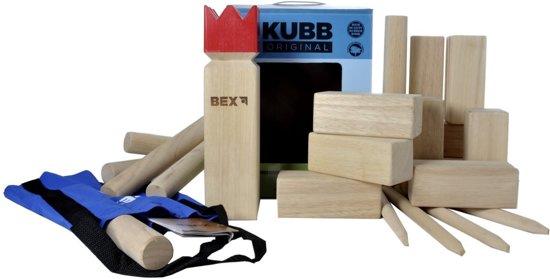 Bex Kubb Original FSC Rode Koning - Beukenhout