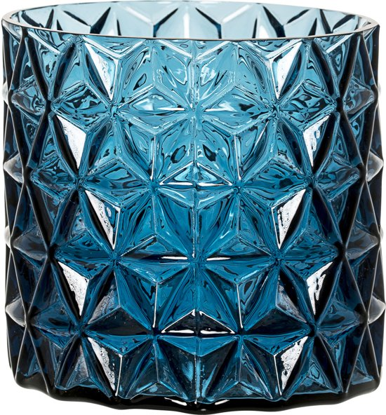 Bloomingville - Bloempot - Glas - Blauw