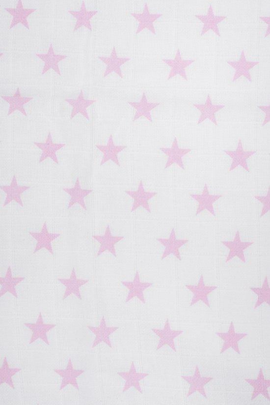Jollein Hydrofiel multidoek 115x115cm Little star roze  (3pack)