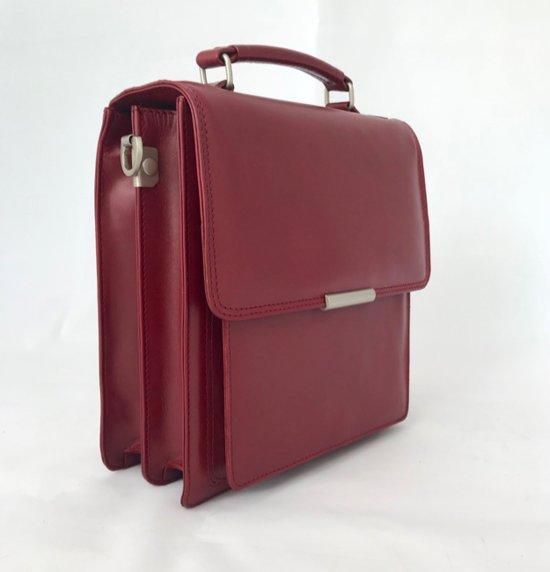 Leather Design Tas Dames leren Schoudertas leer handtas dames leer rood Premium kwaliteit leer