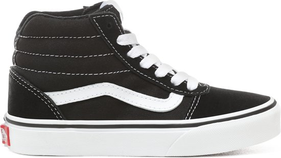 1d961858a54 Vans Ward Hi Sneakers Kids Jongens - maat 35 - (Suede/Canvas) Black