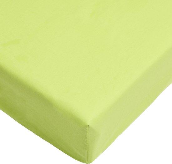 Day Dream hoeslaken - strijkvrij - katoen - 90 x 220 - Groen