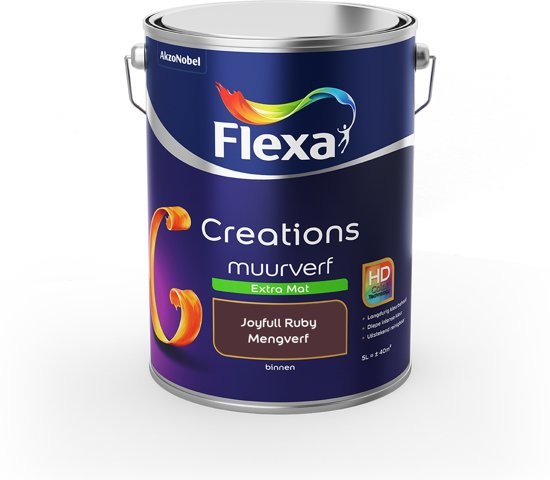 Flexa Creations Muurverf - Extra Mat - Colorfutures 2019 - Joyfull Ruby - 5 liter