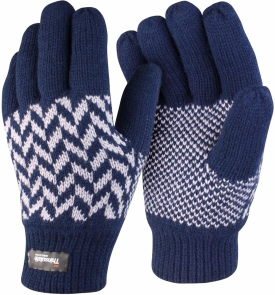 bol com result thinsulate handschoenen navy l xl
