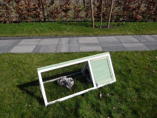 Konijnenhok Tipi - Groen - 110 x 50 x 41 cm