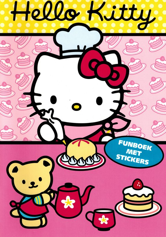 Hello Kitty Funboek met stickers