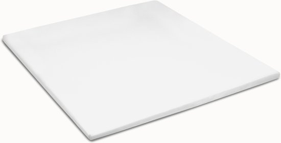 Hoeslaken double jersey topper - 180 x 200/210cm (01) white (tot 8 cm) Damai