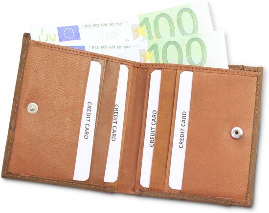 1a7c3d207dd Safekeepers Bruin Leren Creditcardhouder Portemonnee - Compacte Pasjeshouder
