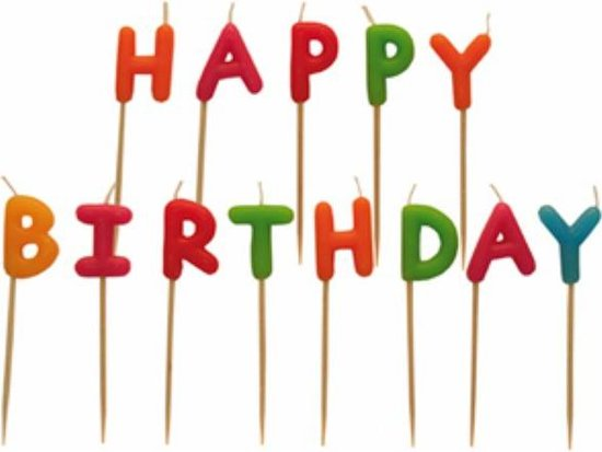 Taartkaarsen - Taartkaarsjes - Feestkaarsjes - Verjaardagskaarsjes - Kaarsen - Kaarsjes - Kaars - Happy Birthday - 13 Delig Valentinaa