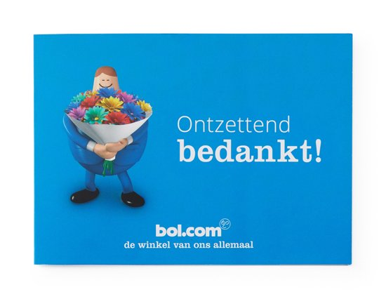 bol.com cadeaukaart - 5 euro - Bedankt!