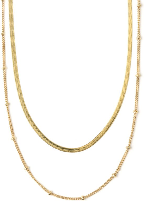 Orelia ketting 2 lagen glad goudkleurig